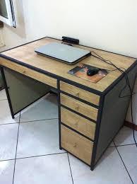 bureau metal et bois bureau bois métal par pierre2410 sur l air du bois