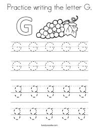 tracing and writing the letter g letter g uppercase and