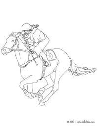jockey galloping horse coloring pages hellokids