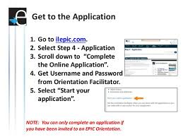 how to complete the epic application
