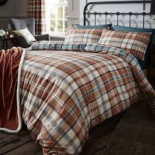 catherine lansfield heritage kelso check duvet cover set u2013 next