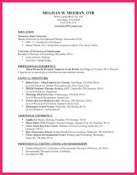 sample resume for occupational therapist speech language