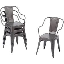 Walmart White Plastic Chairs Better Homes And Gardens Camrose Farmhouse Industrial Chairs 4pk