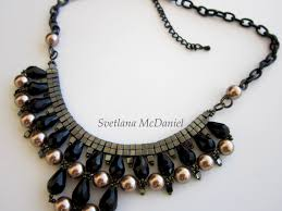 chain necklace with beads images Beaded chain necklace with sw pearls crystals seed beads jpg