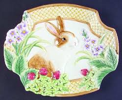 fitz floyd botanical bunny at replacements ltd