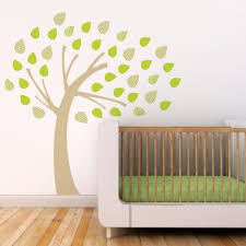 Brown Tree Wall Decal Nursery Baby Nursery Awesome Simple And Chic Baby Room Decoration Using