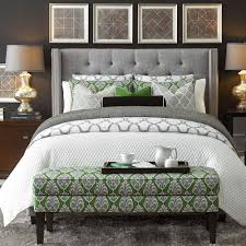 dublin upholstered winged bed bedroom furniture bassett furniture