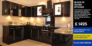 black hi gloss kitchen affordable cheap kitchens