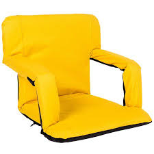 Stadium Chairs With Backs Sundale Outdoor Indoor Adjustable Floor Chair Five Position