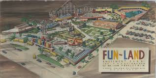 Unlv Campus Map A Googie Architectural Design Drawing Of The Fun Land Amusement