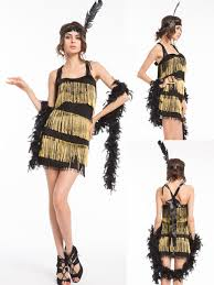 1920 Halloween Costumes Free Shipping 1920s 20s Gold Purple Pink Red Black Flapper