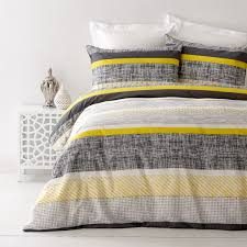 Single Bed Linen Sets In 2 Linen Saxon Yellow Single Bed Quilt Cover Set In 2 Linen