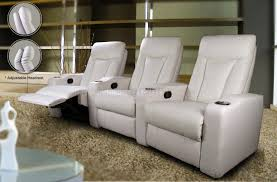 home theater recliner chairs white leatherette home theater recliners w adjustable headrests