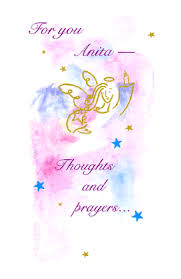 thoughts and prayers greeting card encourage support printable