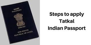 what is the procedure to apply for a tatkal passport online
