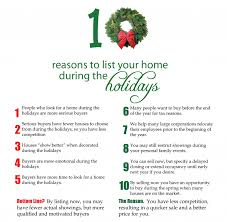 10 reasons to list during the holidays