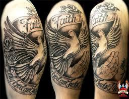 dove faith half sleeve on tattoochief com tattoos
