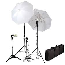 Photography Lighting Studio Umbrella Four Continuous Background Lighting Kits With