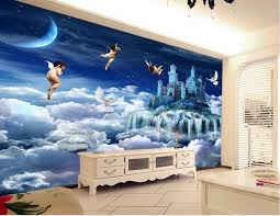 3d Wallpaper For Bedroom Photo Home Wallpaper Customize 3d Photo Angel Paradise Wallpaper