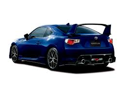 toyota coupe toyota 86 gt aero package launched in japan has a big wing