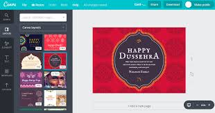 free dussehra greeting cards customizable by canva