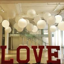 large white balloons white balloons are popular to use in weddings in this