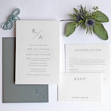 monogram pocketfold letterpress wedding invitation by wolf u0026 ink