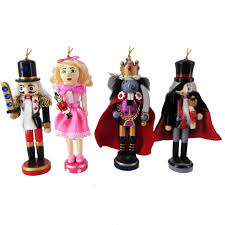 nutcracker ornaments orn004 6 inch nutcracker ballet ornaments set of 4 wooden