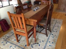 Craftsman Style Dining Room Furniture by Mission Style Antique Kitchen Table 1450 San Francisco Trading Blog