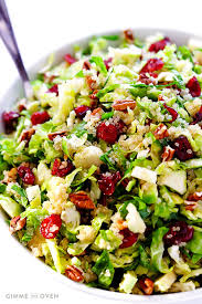 brussels sprouts cranberry and quinoa salad