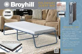 broyhill foldaway guest bed folding steel frame with 3