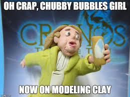 Bubbles Girl Meme - chubby bubbles girl modeling clay meme plastilina by