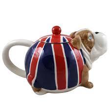 union bulldog shaped ornamental teapot