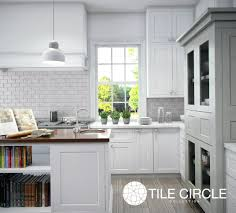 Marble Backsplash Kitchen by Grey Tiles Lead The Way Tile Circle