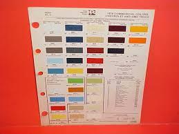 1962 chevrolet paint chips auto paint colors codes pinterest