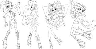free printable monster high coloring pages boo york monster high