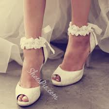 wedding shoes ankle shoespie ankle appliqued peep toe wedding shoes shoespie