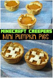 cuisine minecraft minecraft creeper mini pumpkin pies the tiptoe