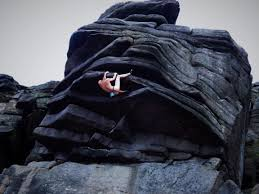 flying buttress direct stanage uk climbing