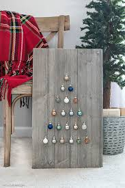 simple and rustic shiplap ornament display rustic farmhouse