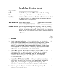 meeting agenda template 10 free word pdf documents download