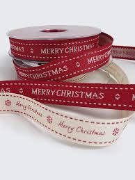 merry christmas ribbon 15mm merry christmas ribbon or white