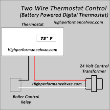 two wire thermostat wiring diagram gooddy org