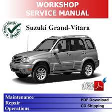 suzuki grand vitara sq ja 98 u002705 complete workshop service