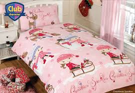 girls quilt bedding girls pink christmas sparkles single duvet quilt cover bedding