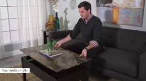marble lift top coffee table palazzo faux marble lift top coffee table product review video