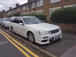 nissan stagea nissan stagea 25t rs four s estate rb25det rare 5 speed manual