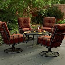Patio Furniture Swivel Chairs High Patio Set With Person Chairs And Round Table Swivel Chair