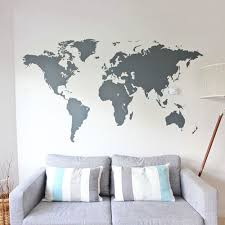 Door Decals For Home by World Map Vinyl Wall Sticker In By Vinyl Impression Bedroom
