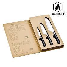 couteau cuisine laguiole set de 3 couteaux de cuisine acier laguiole coutellerie topkoo